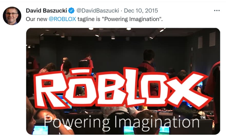 What is the Tagline of Roblox